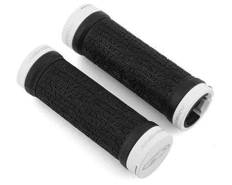 Answer Mini Lock-On Grips (Black/White) (Pair) (Flangeless)