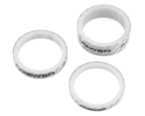 """Answer Carbon Spacer (Silver) (3 Pack) (1-1/8"""")"""