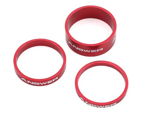 """Answer Alloy Spacer (Red) (3 Pack) (1"""")"""