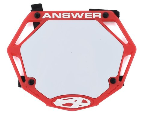 Answer 3D BMX Number Plate (Red) (Mini)