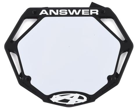 Answer 3D BMX Number Plate (Black) (Pro)