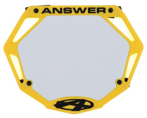 Answer 3D BMX Number Plate (Yellow) (Pro)