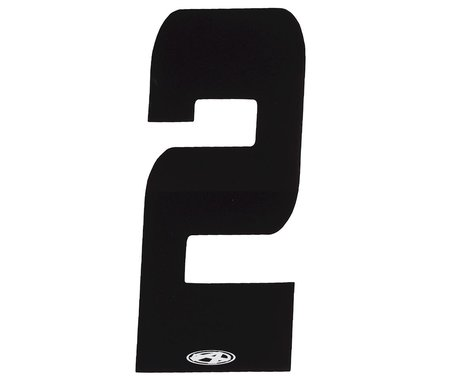 """Answer 3"""" Number Plate Stickers (Black) (2)"""