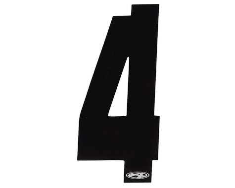 """Answer 4"""" Number Plate Stickers (Black) (4)"""