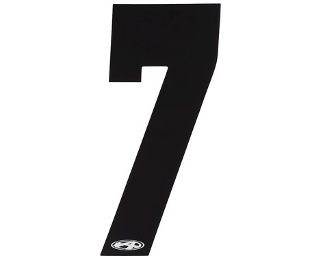 """Answer 3"""" Number Plate Stickers (Black) (7)"""