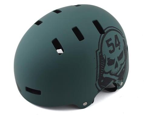 Bell Local BMX Helmet (Matte Green/Black Skull) (S)
