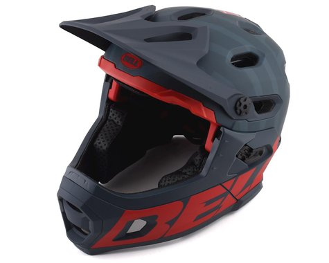 Bell Super DH MIPS Helmet (Matte Blue/Crimson) (L)