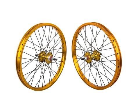 "Black Ops DW1.1 20"" Wheel Set (Gold/Black/Gold) (3/8"" Axle) (20 x 1.75)"