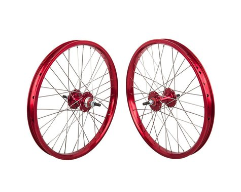 """Black Ops DW1.1 20"""" Wheel Set (Red/Silver/Red) (3/8"""" Axle) (20 x 1.75)"""