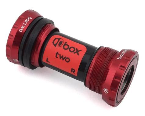 Box Two Alloy External Sealed Bearing Bottom Bracket (24mm) (Red)
