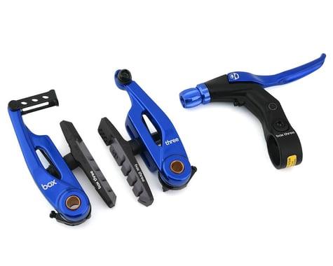 Box Brake Caliper Box Three V W/Lever (Blue) (85mm)