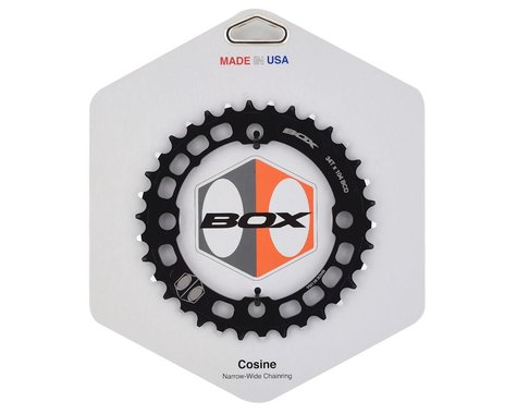 Box Components Cosine Narrow-Wide Chainring (Black) (104mm BCD) (2.5mm Offset) (34T)