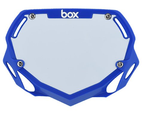 Box Two Number Plate (Blue) (S)