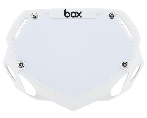 Box Two Number Plate (White) (S)