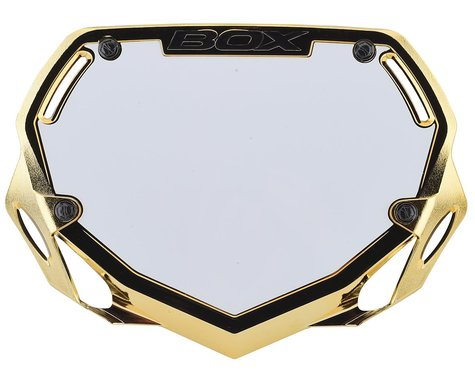 Box Two Number Plate (Gold/Chrome) (S)