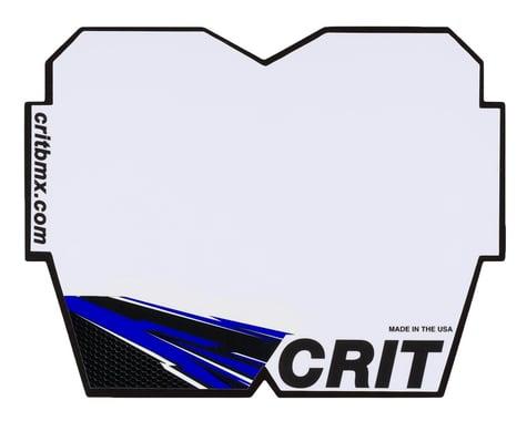 Crit BMX Products Carbon Number Plate (Blue) (Mini)