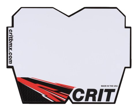 Crit BMX Products Carbon Number Plate (Red) (Mini)