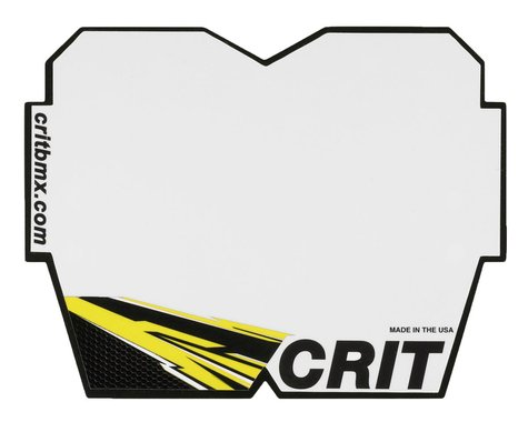 Crit BMX Products Carbon Number Plate (Yellow) (Mini)