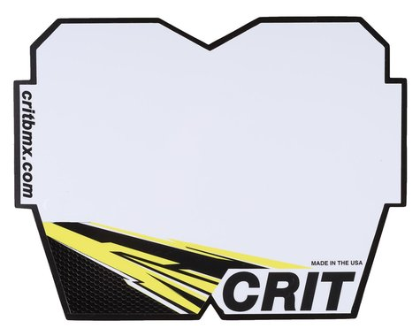 Crit BMX Products Carbon Number Plate (Yellow) (Pro)