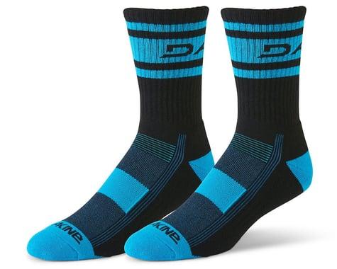 Dakine Step Up Cycling Socks (Black/Cyan) (S/M)