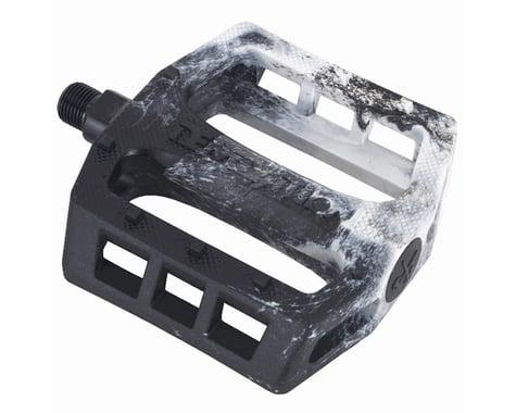 "Demolition Trooper Plastic Pedals (Black/White Swirl) (Pair) (9/16"")"