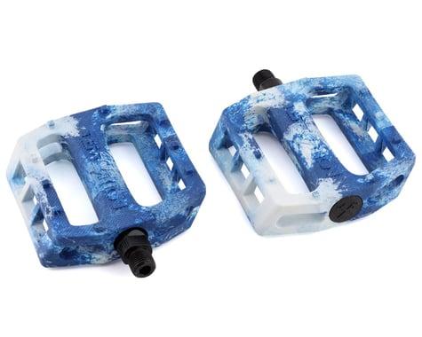 "Demolition Trooper Plastic Pedals (White/Blue Swirl) (Pair) (9/16"")"