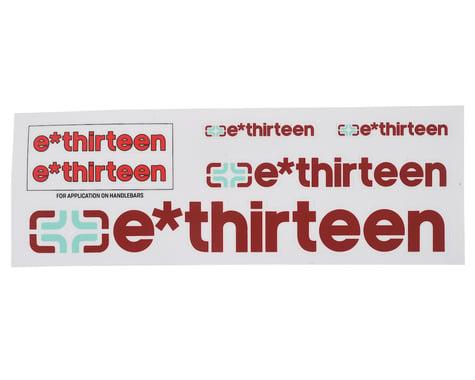 E*Thirteen Race Handlebar Decal Set (All 'Round Red)