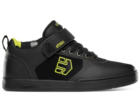 Etnies Culvert Mid Flat Pedal Shoes (Black/Lime) (11)