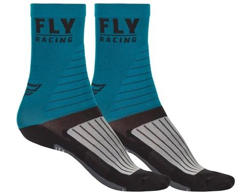 Fly Racing Factory Rider Socks (Blue/Black/Grey) (L/XL)