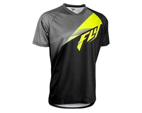 Fly Racing Super D Jersey (Black/Lime/Grey) (M)