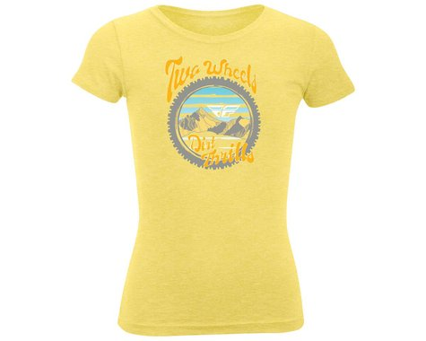 Fly Racing Dirt Thrills Youth Girls Tee (Yellow) (Youth S)