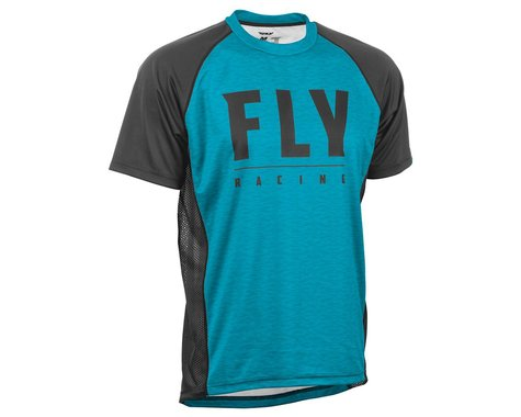 Fly Racing Super D Jersey (Blue Heather/Black) (S)
