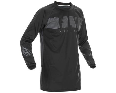 Fly Racing Windproof Jersey (Black/Grey) (2XL)
