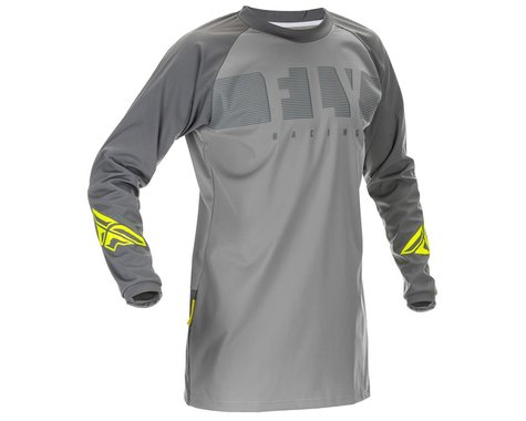 Fly Racing Windproof Jersey (Grey/Hi Vis) (L)