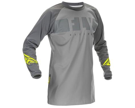 Fly Racing Windproof Jersey (Grey/Hi Vis) (M)