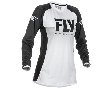 Fly Racing Girl's Youth Lite Jersey (White/Black) (Youth XL)