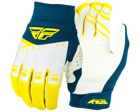 Fly Racing F-16 Gloves (Yellow/White/Navy) (S)