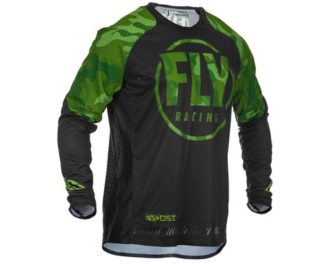 Fly Racing Evolution DST Long Sleeve Jersey (Green/Black) (L)