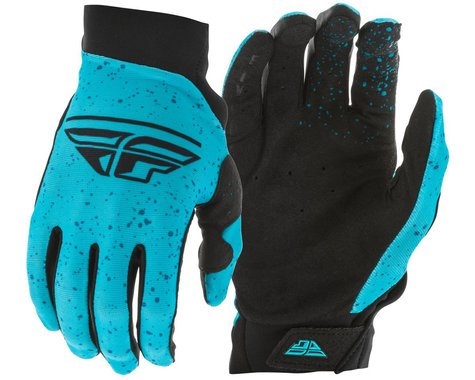 Fly Racing Women's Pro Lite Gloves (Navy/Blue/Black) (Youth M)