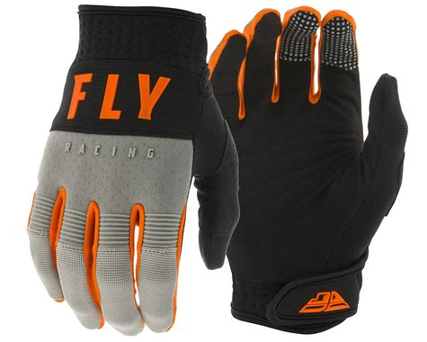Fly Racing F-16 Gloves (Grey/Black/Orange) (Youth 3XS)