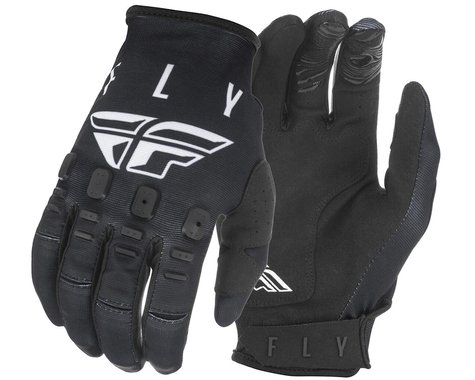 Fly Racing Kinetic K121 Gloves (Black/White) (S)