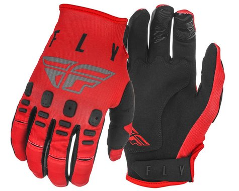 Fly Racing Kinetic K121 Gloves (Red/Grey/Black) (XL)