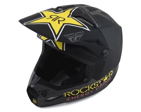Fly Racing Kinetic Rockstar Helmet (Matte Grey/Black/Yellow) (M)