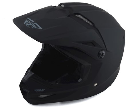 Fly Racing Kinetic Solid Youth Helmet (Matte Black) (Youth M)