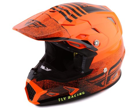 Fly Racing Toxin Embargo Full Face Helmet (Orange/Black) (2XL)