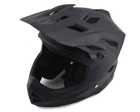 Fly Racing Youth Default Full Face Mountain Bike Helmet (Matte Black/Grey) (Youth S)