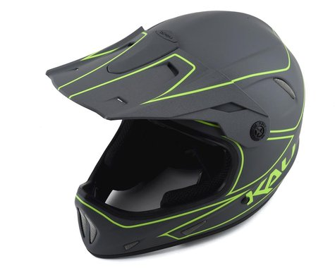 Kali Alpine Rage Full Face Helmet (Matte Grey/Fluorescent Yellow) (L)