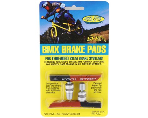 Kool Stop BMX Brake Pads (Threaded) (Black/Salmon) (Pair)
