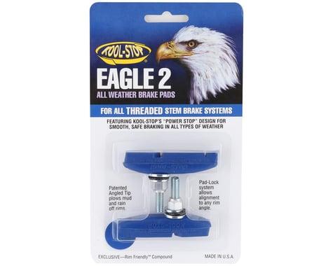 Kool Stop Eagle 2 Brake Pads (Threaded) (Blue) (Pair)