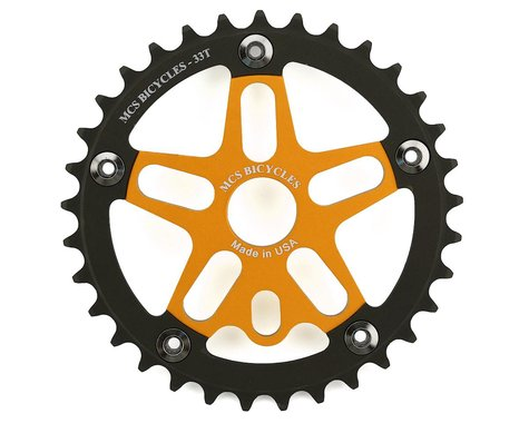 MCS Alloy Spider & Chainring Combo (Gold/Black) (33T)